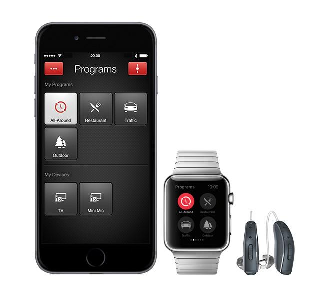 スマートフォンと補聴器