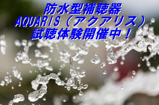 防水型補聴器 AQUARISアクアリス