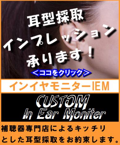 イヤモニター カスタムイヤホン 耳型採取インプレッション