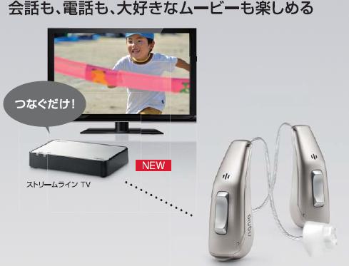 ストリームラインTV テレビ対応補聴器