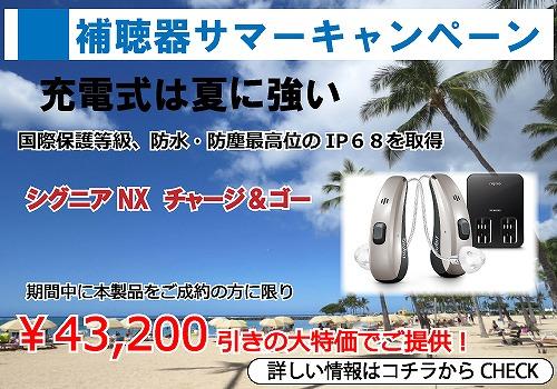 補聴器サマーキャンメーンセル 夏の特価セール